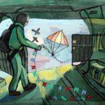 Долганова Дарья (8 лет) «Парашютист», гуашь, преподаватель Маркелова И.В., Детская художественная школа «Весна» г. Бердска