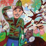 Чуканова Мария (8 лет) «Пограничник», маркер, гуашь, преподаватель Маркелова И.В., Детская художественная школа «Весна» г. Бердска