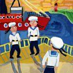 Белкина Полина (9 лет) «Моряки», гуашь, преподаватель Домашонкина М.В., Детская художественная школа «Весна» г. Бердска