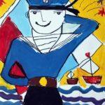 Жадаева Ярослава (6 лет) «На параде», гуашь, маркер, преподаватель Маркелова И.В., Детская художественная школа «Весна» г. Бердска