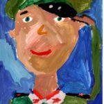 Янина Ева (8 лет) «Портрет солдата», гуашь, преподаватель Громыко О.Ю., Детская художественная школа № 2 г. Новосибирска