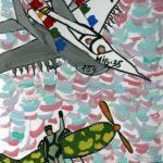 Подсумкова Виолетта (9 лет) «Полет», маркер, гуашь, преподаватель Маркелова И.В., Детская художественная школа «Весна» г. Бердска