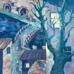 Самохвалова Дарья (13 лет) «Старый город», гуашь, преподаватель Гулькова О.Г., Линевская детская художественная школа