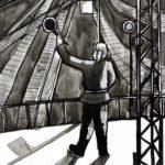 Кисилева Мария (13 лет) «Пропускает состав», тушь, преподаватель Авдеева Е.В., Детская художественная школа «Весна» г. Бердска
