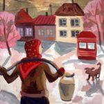Русинова Мария (11 лет) «За водой», гуашь, преподаватель Домашонкина М.В., Детская художественная школа «Весна» г. Бердска