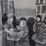 Грищук Александра (16 лет) «Прощание», гуашь, преподаватель Гринько М.Е., Детская школа искусств № 25 г. Новосибирска