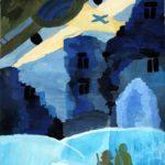 Налиткина Юлия (10 лет) «Ночная тревога», гуашь, преподаватель Рожкова Л.В., Детская художественная школа «Весна» г. Бердска