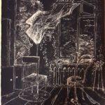 Подгородинский Кирилл (11 лет) «Налёт», гелевая ручка, преподаватель Штальбаум С.А., Маслянинская детская школа искусств