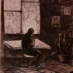 Сарпова Маргарита (11 лет) «Я жду тебя…», уголь, преподаватель Штальбаум С.А., Маслянинская детская школа искусств