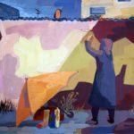 Кондратова Ева (15 лет) «Граффити», гуашь, преподаватель Дормакова Д.В., Детская художественная школа «Весна» г. Бердска