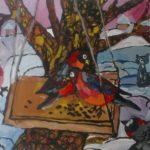 Бузмаков Родион (9 лет) «Снегири», гуашь, преподаватель Золотова Е.В., Детская школа искусств №1 Карасукского района