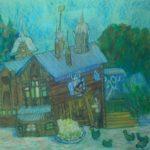Войтенко Варвара (9 лет) «Домик в Томске», маркер, масляная пастель, преподаватель Чернышева О.В., Кольцовская детская школа искусств