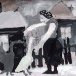 Короткова Ангелина (7 лет) «Гуси, мои гуси…», гуашь, преподаватель Шаронова А.А., Линевская детская художественная школа