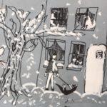 Пшенова Вероника (9 лет) «Мой мир», бумага, смешанная техника, преподаватель Зуева Ю.Ю., Городская школа искусств № 29 г. Новосибирска