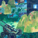 Елховская Ульяна (12 лет) «Ночные звуки», гуашь, преподаватель Гулькова О.Г., Линевская детская художественная школа