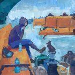 Батц Алина (13 лет) «Ожидание», гуашь, преподаватель Гулькова О.Г., Линевская детская художественная школа