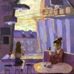 Дедюкова Алена (14 лет) «Питерское кафе», гуашь, преподаватель Дормакова Д.В., Детская художественная школа «Весна» г. Бердска