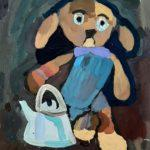 Свиридова Варвара (7 лет) «Грустный Шарик», гуашь, преподаватель Шаронова А.А., Линевская детская художественная школа