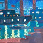 Казанцева Анна (11 лет) «Ночные огни», гуашь, преподаватель Гулькова О.Г., Линевская детская художественная школа
