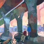 Кислицина Екатерина (12 лет) «Под мостом», гуашь, преподаватель Гулькова О.Г., Линевская детская художественная школа