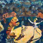 Басараб Юлия (7 лет) «Опасный трюк», гуашь, преподаватель Прялухина Л.А., Линевская детская художественная школа