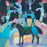 Кашаутова Валентина (11 лет) «Акробаты», гуашь, преподаватель Гулькова О.Г., Линевская детская художественная школа