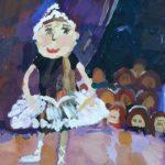 Басараб Юлия (7 лет) «Клоунесса», Гуашь, преподаватель Шаронова А.А., Линевская детская художественная школа