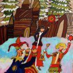 Кротова Татьяна (9 лет) «Масленица», гуашь, преподаватель Маркелова И.В., Детская художественная школа «Весна» г. Бердска