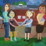 Годовищенко Милана (11 лет) «Первое сентября», гуашь, преподаватель Торгонская А.Е., Детская художественная школа р.п. Краснообск