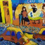 Вольхина Мария (10 лет) «Ночной город», гуашь, преподаватель Соколова Е.В., Кольцовская детская школа искусств
