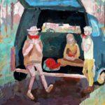 Ситро Александра (15 лет) «Сочный арбуз», гуашь, преподаватель Дормакова Д.В., Детская художественная школа «Весна» г. Бердска