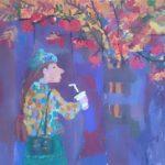 Гаськова Зоя (12 лет) «Теплая осень», гуашь, преподаватель Совцова О.В., Кольцовская детская школа искусств