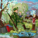Кочеткова Дарина (9 лет) «Хороший рассказ», гуашь, преподаватель Маркелова И.В., Детская художественная школа «Весна» г. Бердска