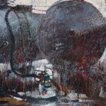 Киримова Татьяна Юрьевна «Вторчермет 1», бумага, гуашь, парафин, линер, 54х68, Городская школа искусств № 29 г. Новосибирска