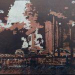 Шмелёва Светлана Александровна «Воспоминания», линогравюра, 30,5х20, Детская художественная школа «Весна» г. Бердска