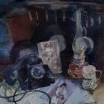 Шаронова Александра Андреевна «Ретро-натюрморт», бумага, акварель, 70х60, Линевская детская художественная школа