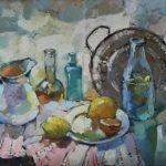 Гулькова Ольга Геннадьевна «Вода с лимоном», холст, масло, 70х50, Линевская детская художественная школа
