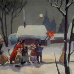 Золотова Елена Викторовна «Рождественская ночь», темпера, 20х30, Детская школа искусств №1 Карасукского района