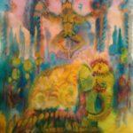 Чернышева Оксана Витальевна «Сны о Баядерке. Слон», бумага, акварель, 42х59, Кольцовская детская школа искусств