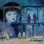 Шаронова Александра Андреевна «Живущие в макете», бумага, акварель, 85х60, Линевская детская художественная школа
