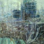Чернышева Оксана Витальевна «Театр строится», мелованная бумага, акварель, 47х72, Кольцовская детская школа искусств