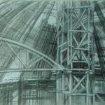 Чернышева Оксана Витальевна «Театр строится III», бумага, карандаш, 30х42, Кольцовская детская школа искусств